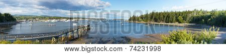 Panorama of the Southwest Harbor, Mount Desert Island, Maine, USA