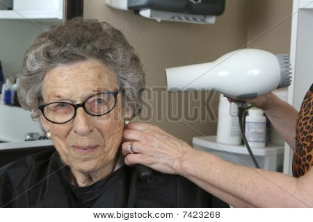 Senior Woman at the Beauty Salon
