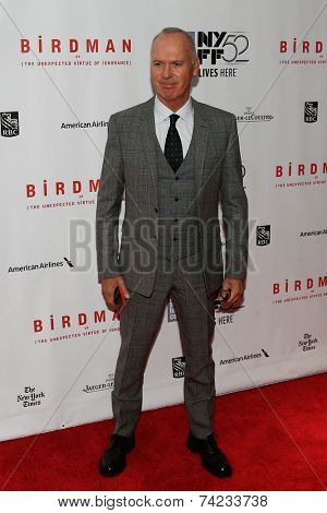 NEW YORK-OCT 11: Actor Michael Keaton attends the Closing Night Gala Presentation of 'Birdman Or The Unexpected Virtue Of Ignorance' at the New York Film Festival on October 11, 2014 in New York City.