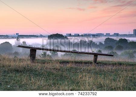 Broken bench dawn vantage point