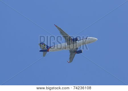 Spirit Airlines Airbus A320 plane taking off from La Guardia Airport