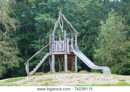 Old Wooden Playground Slide