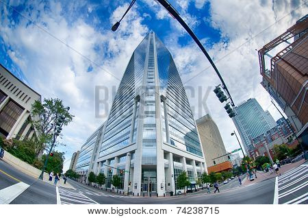 Charlotte, Nc, Usa - October 11: Duke Energy Center On South Tryon Street Onoctober 2014 In Charlott