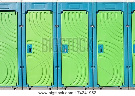 portable toilet doors