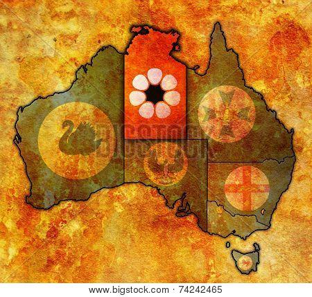 Northern Territory On Map Of Australia