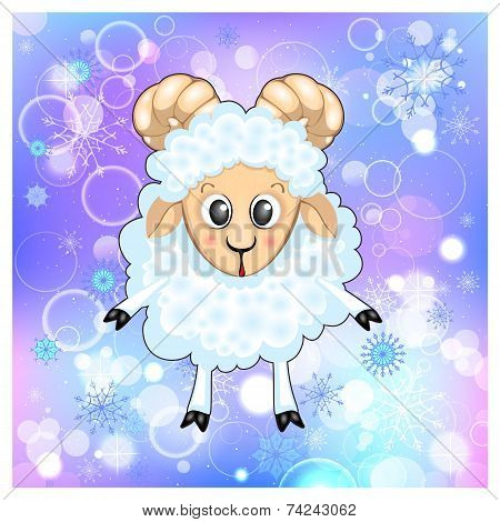 Christmas Sheep In The Snow.ai