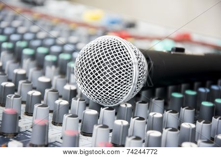 Microphone On A Console