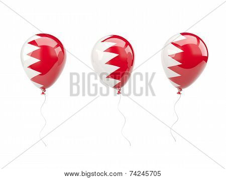 Air Balloons With Flag Of Bahrain