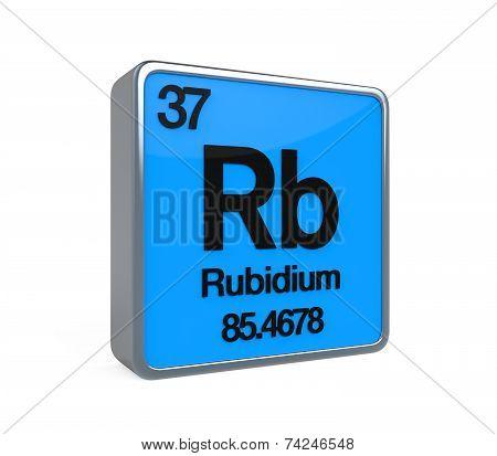 Rubidium Element Periodic Table