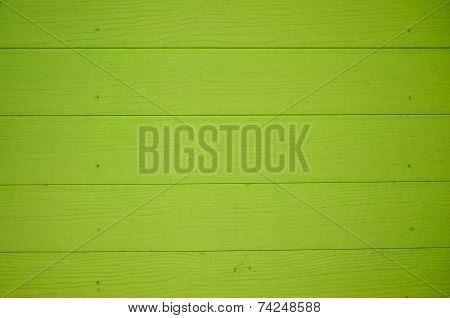 Green Wood Plank Wall Texture Background