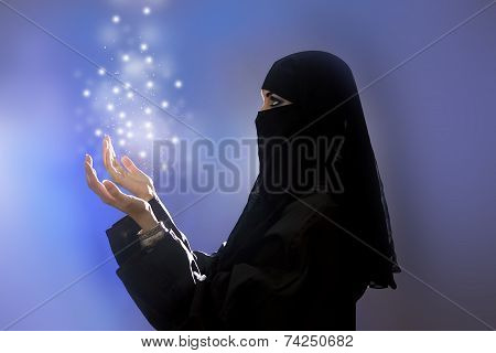 Ramadan: Beautiful Young Muslim Girl Praying, Spirituality