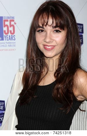 LOS ANGELES - OCT 19:  Haley Pullos at the First Annual Stars Strike Out Child Abuse event to benefit Childhelp at Pinz Bowling Center on October 19, 2014 in Studio City, CA