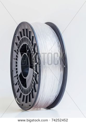 Filament For 3D Printer Crystal Clear Bright Background