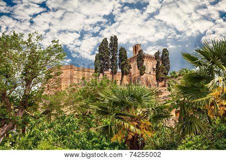 Ancient Italian Castle In Meldola, Emilia Romagna, Italy