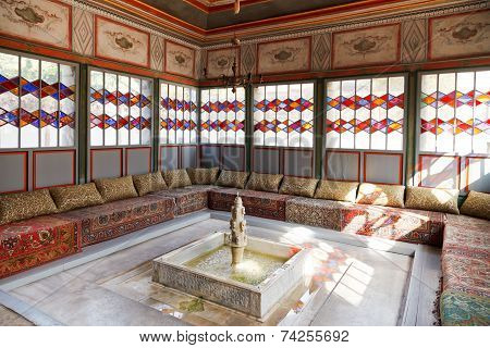 Interior Of Summer Hall In Khan's Palace, Crimea