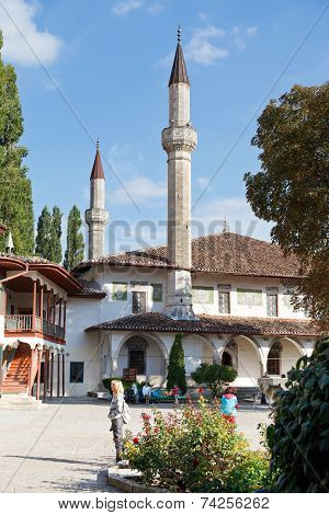The Big Khan Mosque In Khan's Palace, Crimea