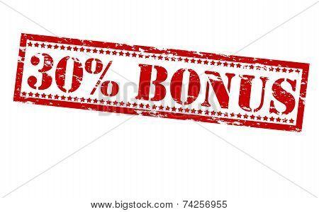 Thirty Percent Bonus