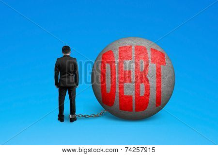 Man Being Trapped With Debt Ball