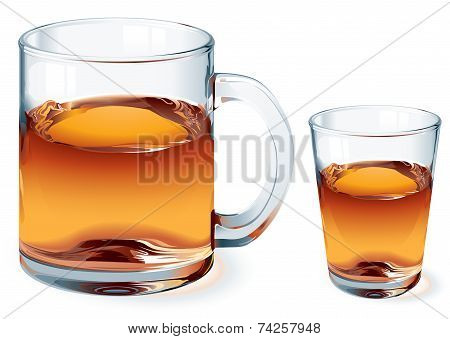 Vector glass of tea