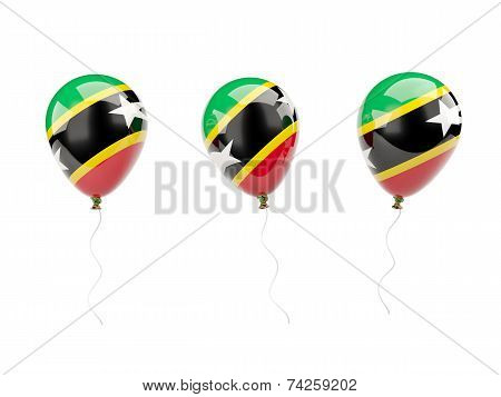 Air Balloons With Flag Of Saint Kitts And Nevis
