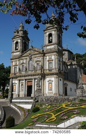 Portugal, The Baroque Church Of Bom Jesus In Braga