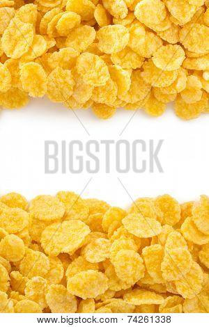 corn flakes isolated on white background