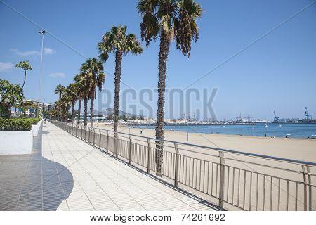 Sidewalk on the beach