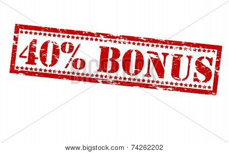 Forty Percent Bonus