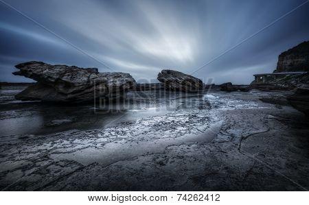 Tempestuous Coalcliff seascape