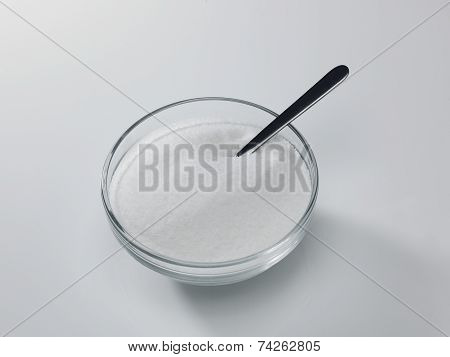 Granulated Sugar And Spoon