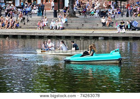 Boating on the River Dee, Chester.