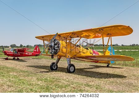 Old Biplane Boeing Stearman Model 75
