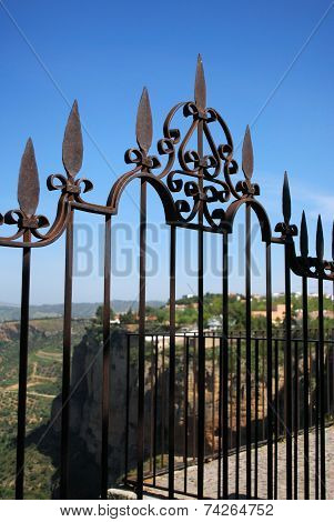 Ornate fence, Ronda.