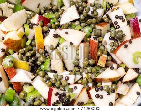 Apple Salad With Capers And Leaf Celery
