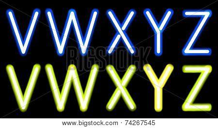 Neon alphabet