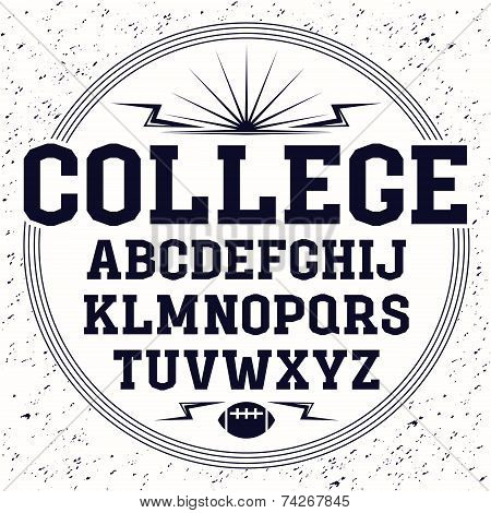 Rectangular Serif Font  In The Style Of College