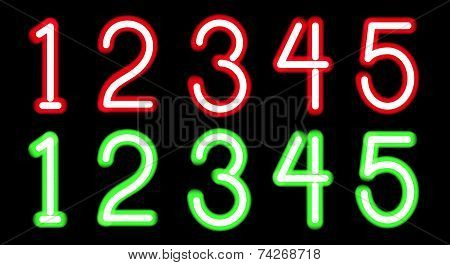 Neon digits