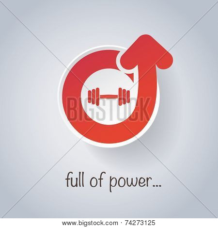 Full of Power - Weight, Dumbbell Icon Design