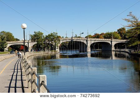 Bridge Over The Rideau Canal.