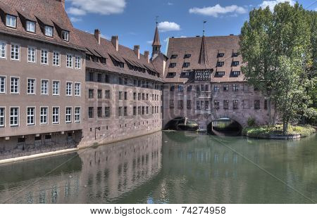 Pegnitz And Covered Bridge