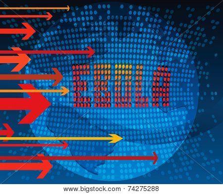 Symbolic vector image of Ebola virus spreading