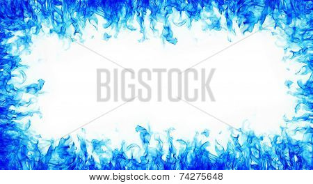 Abstract Blue Fire Frame