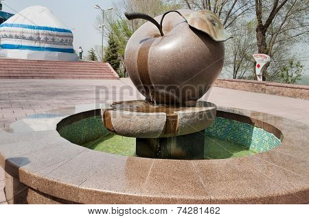 Fountain Apple On The Mountain Kok Tobe In Almaty