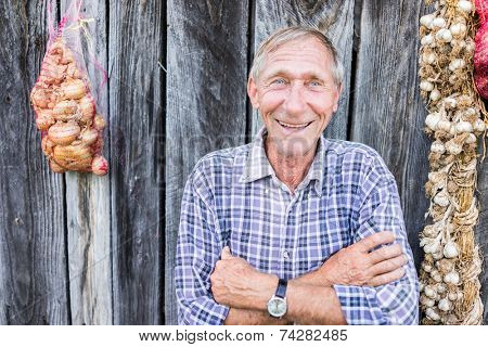 Happy smiling elder senior man portrait