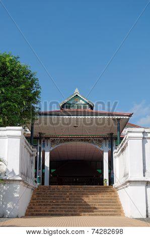 Bangsal Siti Hinggil one hall inside Yogyakarta Sultanate Palace
