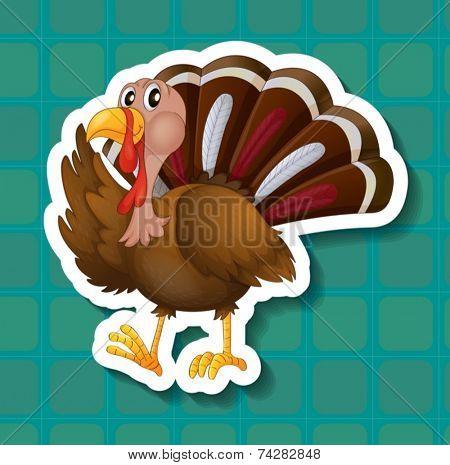Illustration of a close up turkey