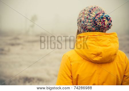 Young Woman wearing winter hat clothing outdoor Travel Lifestyle