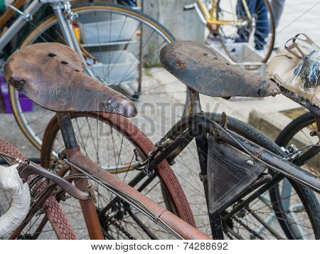 Vintage Bicycles On Display At L'eroica, Italy
