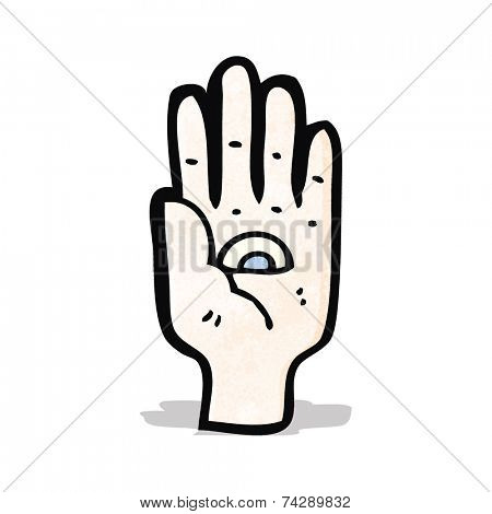 mystic hand symbol cartoon