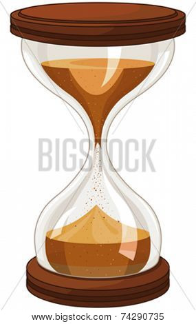 Illustration of sand clock